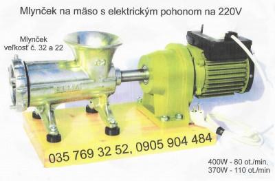 Mlynček na mäso 32 elektricky